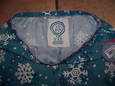 NWT Ladies Life is good sleep lounge pants Pajamas Medium  Snowflake $42 ()