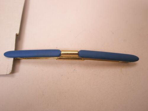 -Blue Coated & Gold Tone Vintage Collar Bar L53