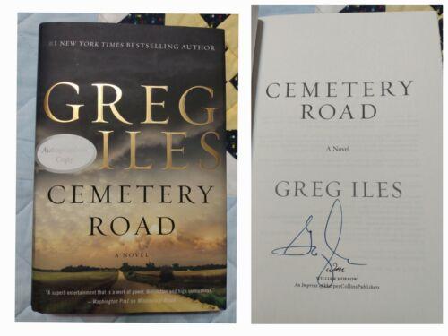 CEMETERY ROAD Greg Iles SIGNED Autograph Hardcover Book Natchez Burning Trilogy - $19.00