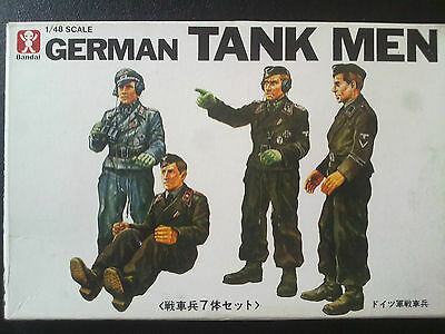 Bandai 8277 German Tank Men (4 1/2 Figures) 1:48 Neu und eingetütet
