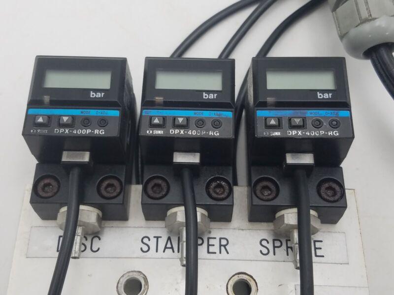 3 PC Sunx DPX-400P-RG Digital Pressure Sensor Connector Plug 1 Switch Mount Used