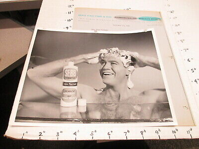 MAX FACTOR SEBB shampoo Harris Tuchman ad agency photo 1957 TV commercial