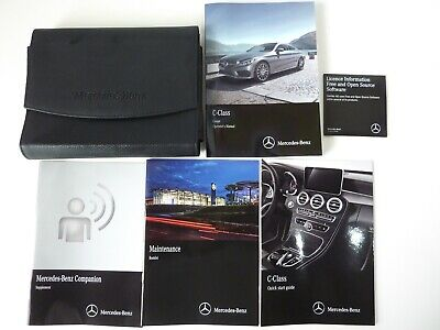 ORIGINAL 2016 MERCEDES BENZ C-CLASS COUPE OWNERS MANUAL BOOKS W/ LEATHER CASE