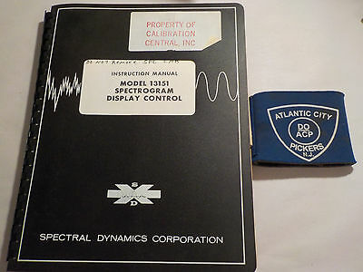 Spectral Dynamics 13151 Spectrogram Display Control Instruction Manual