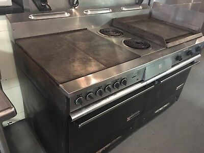 GARLAND 684-2-24TH Electric Range  2 Ovens solid top 2 burners & Griddle