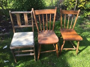 Old Wooden Chairs Vintage Antique Rustic Chair
