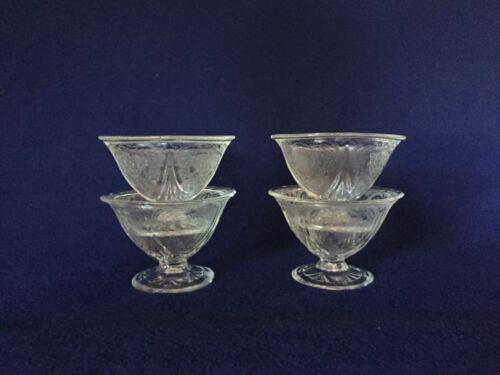 4 Crystal Royal Lace Hazel Atlas Depression Glass Sherbets