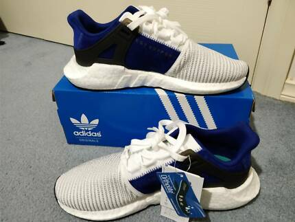 (US9.5) Brand new adidas EQT Support 93/17 White/Royal Blue