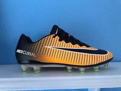 6e33438ee25 Nike Mercurial Vapor XI AG Pro ACC Soccer Cleats Orange 831957-802 Men SZ  6.5