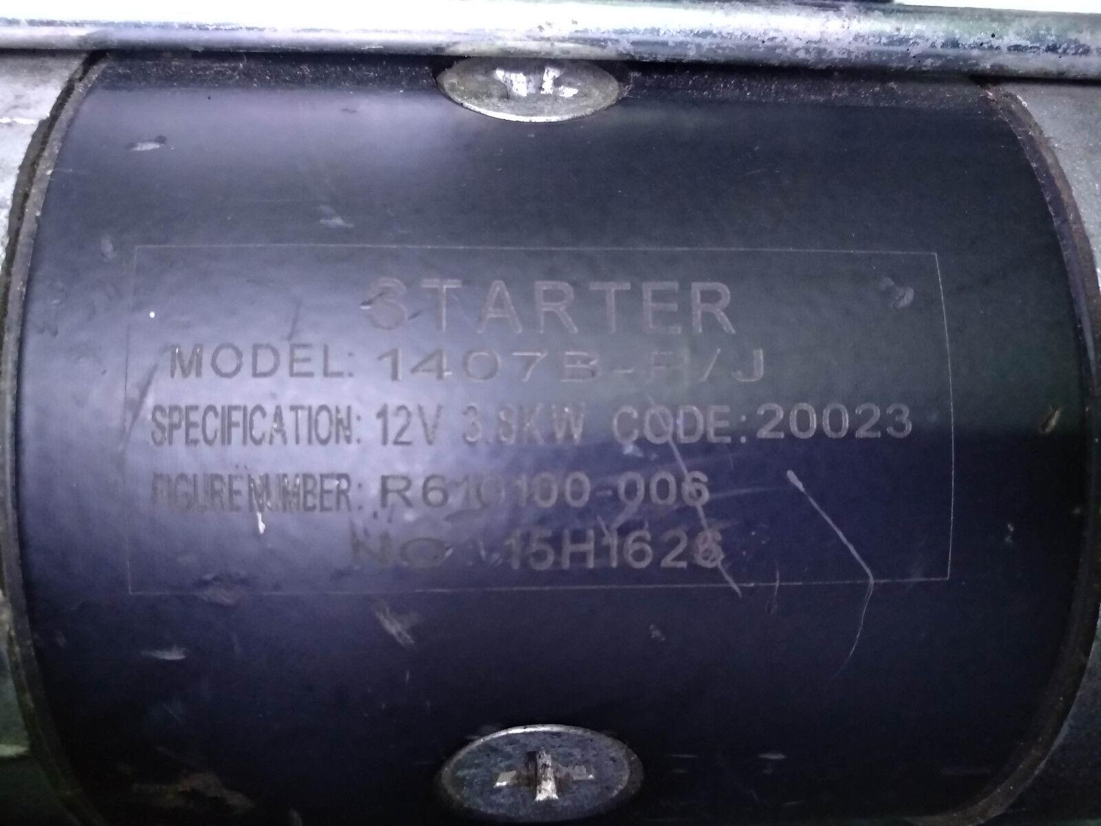 Engine starter Model: 1407B-P/J