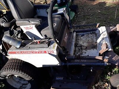 """220 Grasshopper lawnmower 52"""" deck zero turn mower"""