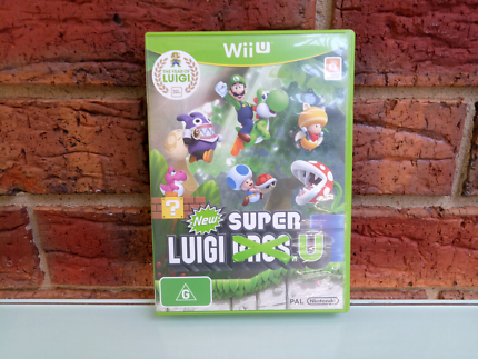 Wii U Super Luigi U Rare Nintendo Game