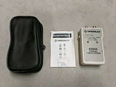 Greenlee 45055 Coaxial Cable Tester With Case