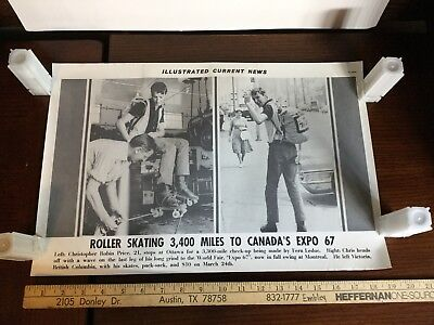 Illustrated Current News Photo - Roller Skating Canada's Expo 1967 Wold Fair