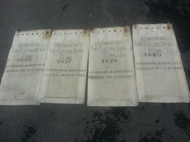 Vintage election chief electoral bags (4) ottawa