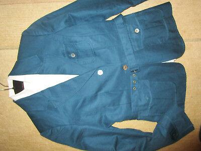 Grün Blazer Jacke (H+M Jacke Blazer Leinenblazer  Businessjacke grün petrol Gr 38)