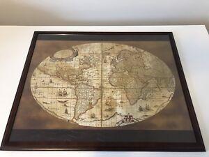 Bombay world map desk blotter