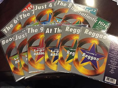 LEGENDS KARAOKE CD+G 10 DISC LOT SALE 60'S 70'S 80'S 90'S REGGAE MOVIES AND MORE