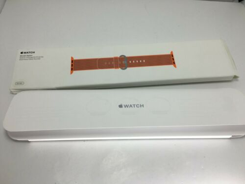 Genuine Apple Woven Nylon for Apple Watch series 4 3 38mm/40mm Orange/Anthracite