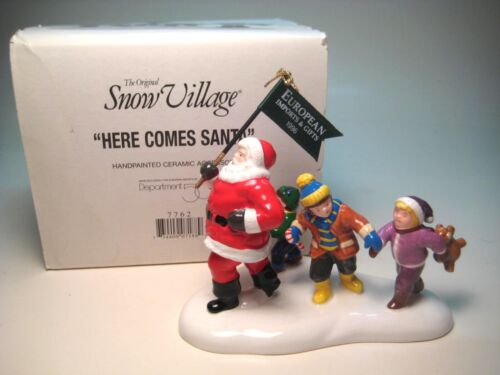 Dept 56 Here Comes Santa Christmas Snow Village Lighted House Accessory 7762 (B)