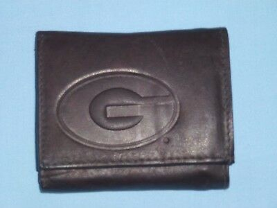 - GEORGIA BULLDOGS   Leather TriFold Wallet   NEW  dkbr z