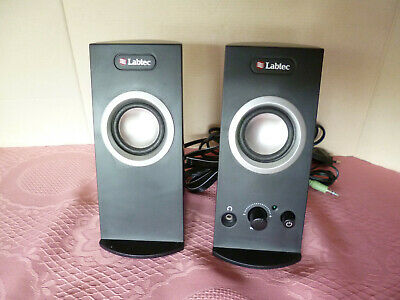 PC / Notebook Stereo Lautsprecher schwarz Labtec Multi-Media Speaker 10W 220V