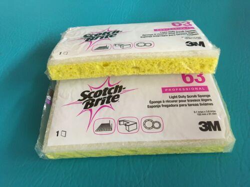 Scotch Brite 3M 63 Light-Duty Scrubbing Sponge Professional 20 Sponges