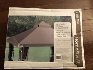 Sunshade canopy gazebo replacement top 10x12