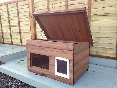 Outdoor Quality  Wood Dog/Cat Kennel/ Shelter ~ Dog House box/ with window