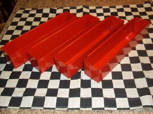 4 RED DEEP DRAWER TOOLBOX SPACE SAVER ORGANIZER STORAGE snap to use on inside