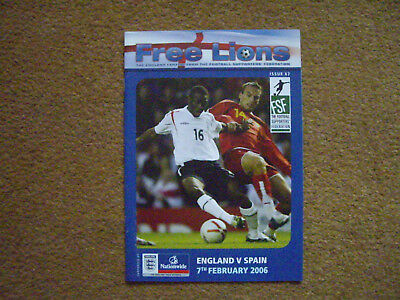ENGLAND V SPAIN FREE LIONS, 7/2/2006, ISSUE 67