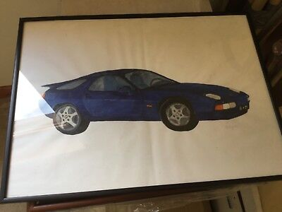 Blue Porsche 928 S4 glazed painting new as painted and still wrapped