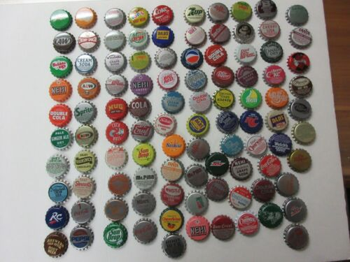 100 = OLD SODA BOTTLE CAPS=NICE CONDITION=NEVER USED=