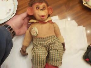 VINTAGE J.FRED MUGGS MONKEY WITH RUBBER FACE AND HANDS