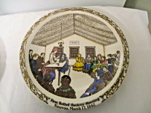 Vernon Kilns USA Nauvoo March 17, 1842 Souvenir Adv LDS Relief Society Plate