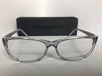 New PORSCHE DESIGN P8246 P 8246 D 56mm Clear Cats Eye Women's Eyeglasses (Porsche Eye Frames)