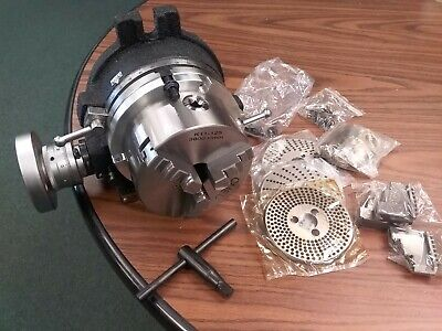 6 Precision Horizontal Vertical Rotary Table W 3jaw Chuck Index Plates-new
