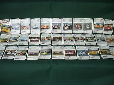 1970's German collector Cards  car racing, Le mans , F-1, rally, Indy Quartets game