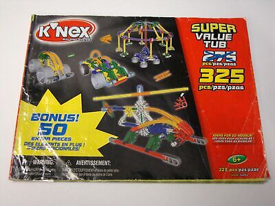 KNEX INSTRUCTION MANUAL ONLY #12064 325-Piece Super Value Tub Instructions Book