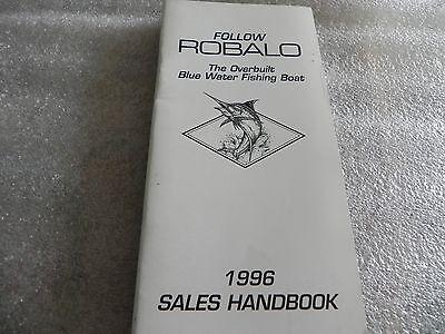 1996 ROBALO Boat Guide, Dealer Sales Book