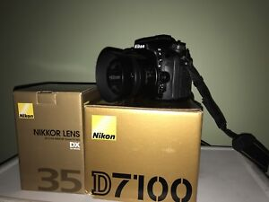 Nikon D7100 w/ 35mm 1.8G & Bag for sale