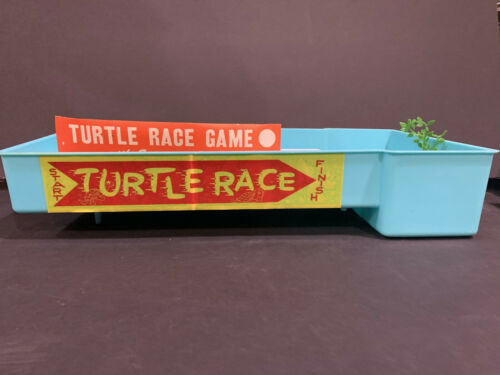 Vintage Turtle Food - Turtle Race Track - 1950