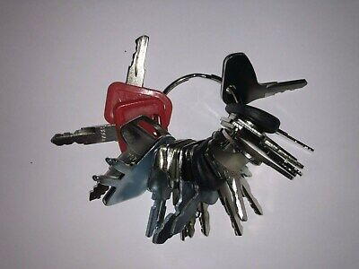 22 Keys - Heavy Construction Equipment Ignition Start Starter Key Set - New