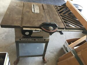 Working Beaver/Rockwell table saw
