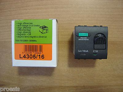 Bticino L4305/16 Living International Magnetotérmico Diferencial 16A 10mA 3KA
