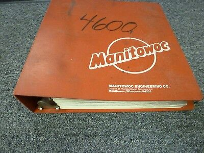 Manitowoc 4600 S1 S2 S3 S4 Crawler Mounted Dragline Crane Parts Catalog Manual