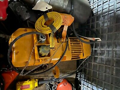 Harrington Electric 12 Ton Chain Hoist 10 Lift Wupper Er005lrbzau