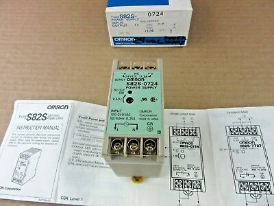 Omron S82s-0724 Power Supply 24vdc 0.3a Output 100-240vac Input
