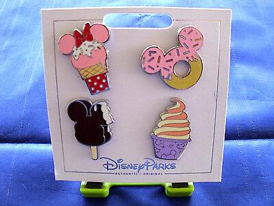 * SWEET TREATS - ICE CREAMS - DONUT - DOLE WHIP * Disney Parks 4 Pin Set on Card