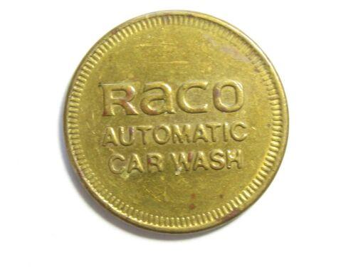 Vintage Brass RACO Automatic Car Wash Token - #5064-5101